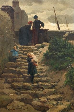 bajando la escalera by alphonse marie de neuville