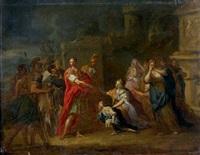 la famille de darius aux pieds d'alexandre le grand by antoine dieu