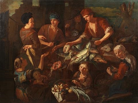 the fish market by giacomo francesco cipper