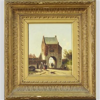 oude stadspoort (old city gate) by jan weissenbruch