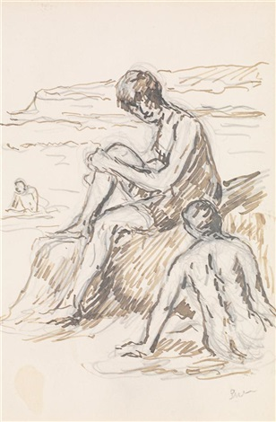 personnages by maximilien luce