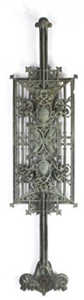three balustrade panels from the carson, pirie, scott and company department store, chicago, illinois (set of 4) by louis henri sullivan