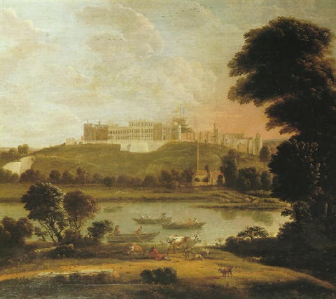 landscape with windsor castle by hendrick danckerts