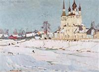 monastère orthodoxe en russie by nikolai efimovich timkov