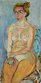 femme nue assise by natta konisheva