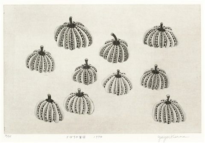 pumpkin army by yayoi kusama