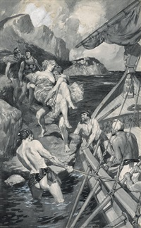 rescuing the maiden by norman alfred williams lindsay