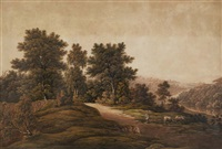 untitled (landscape with shepherd and cattle) by john glover