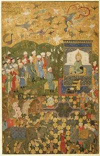 suleyman and his court with the jinns, birds and animals by anonymous-persian (15)