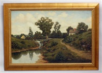 River Landscape with Country Houses