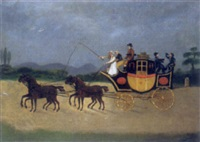bosley and heath's coach and four near hereford by e. holdford