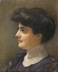 portrait de femme de profil by henri gervex