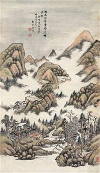 烟峦迷云 (landscape) by xu jian