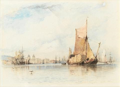 a stackie, greenwich by edward william cooke