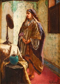 odalisque dans son boudoir by rudolf ernst