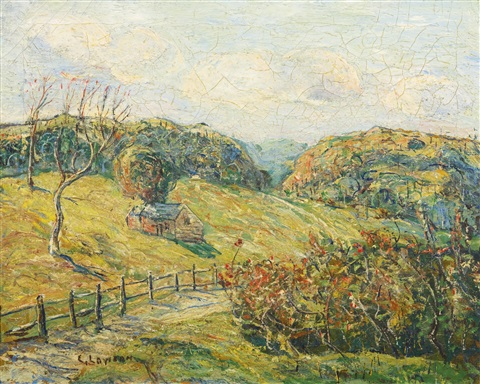 new england landscape by ernest lawson