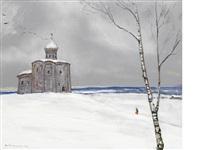 winter landscape by ilya glazunov