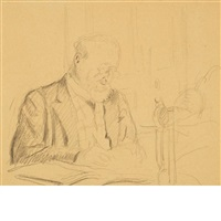 thadee natanson seated at his desk by edouard vuillard