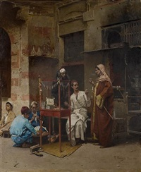 the tobacco seller, cairo by raphael von ambros