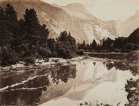 mirror view, north dome - yosemite - california (after c.e. watkins) by isaiah west taber
