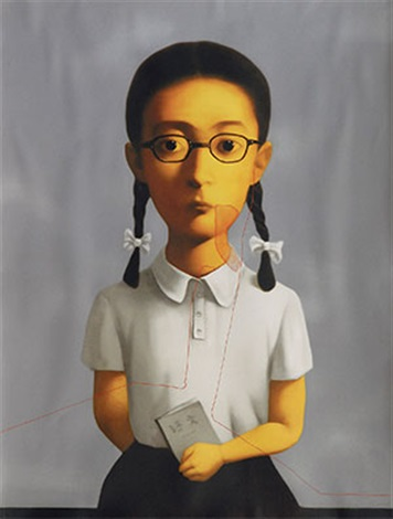 血缘系列 女孩 bloodline series:girl by zhang xiaogang