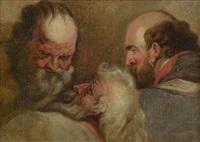 etude de têtes de vieillards by flemish school (18)