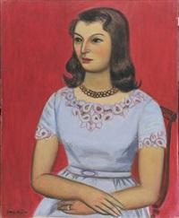 seated woman by zenzaburo kojima