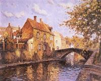 viejo canal, en brujas by antonio iglesias sanz