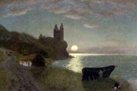 grenan castle, the coast of ayrshire by frederic alsop
