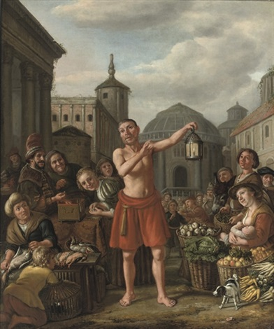 diogenes searching for an honest man by jan victors