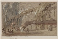 bur tree at kooa, ahmedabad (+ sepore hills, gogo, gujarat; 2 works) by sir james peile