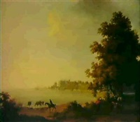 view of shane's castle on lough neagh by william ashford