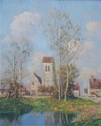 l'église du village by marcel adolphe bain