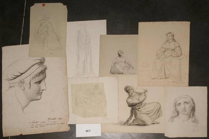 scène antique maternité etudes de femmes 8 works by françois joseph navez