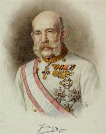 porträt kaiser franz joseph i von österreich in feldmarschallsuniform mit ordensschmuck by karl a götze
