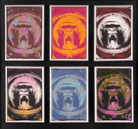 apish angels (6 framed as 1) by nick walker