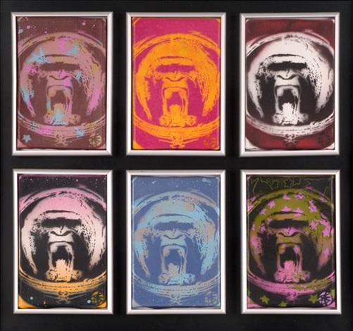 apish angels (6 framed as 1) by nick walker