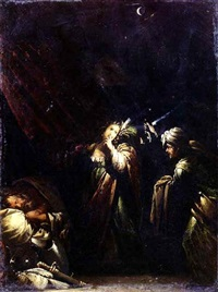 judith approaching the tent of holofernes by giovanni paolo recchi