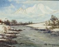 il monte bianco dalla val ferret by ottorino campagnari