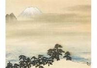 mt.fuji in miho by taikan yokoyama