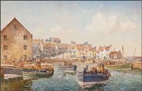 pittenweem harbour by john ernest aitken
