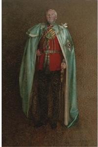 portrait of arthur saunders, 5th earl of arran in uniform by edith d. brinton