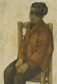 boy in red jacket by louay kayyali