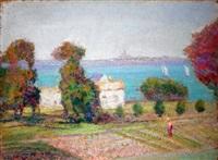 jardin au bord du fleuve by victor charreton
