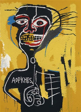 cabeza by jean michel basquiat