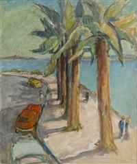 vue du bord de mer à st. raphaël by robert fleurent