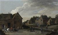 les joueurs de boules by thomas van apshoven