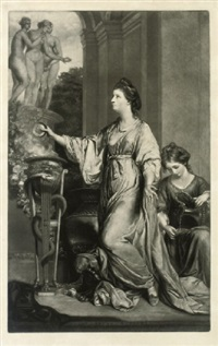 lady sarah bunbury, sacrificing to the graces (after sir joshua reynolds) by edward fisher