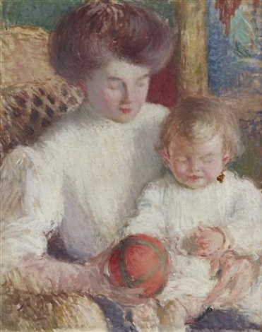 mother and child by edmund william greacen