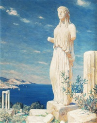 greek ruins by t. frantisek simon